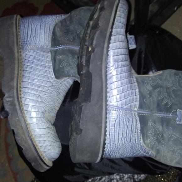 Ariat Shoes - Ladies Ariat FatBaby Boots Sz 10 B Blue/Black